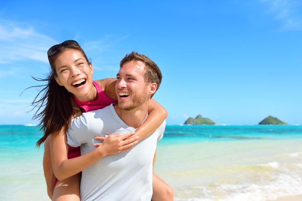 ハワイでカップル